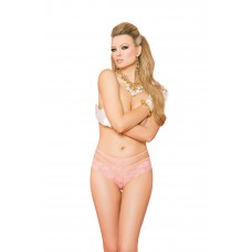 Lace panty with double straps and back satin bow detail. - 88009
