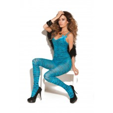 Bodystocking with open crotch and satin bows. - 8729