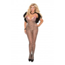 Bodystocking with open crotch and satin bows. - 8549Q