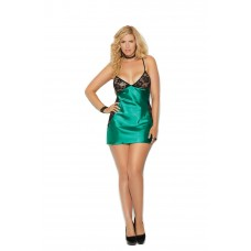 Charmeuse and lace chemise features Y back.  - 4371X