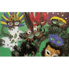 Assorted feather masks, you receive one random color.  - 6350