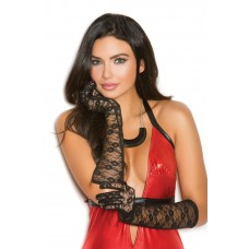 Elbow length lace gloves. - 1173