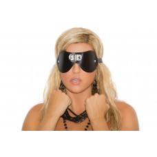 Leather blindfold with D ring detail. *Available Boxed - L9439