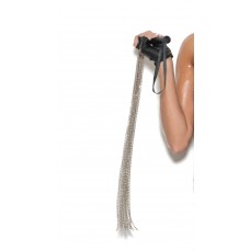 Chain whip with leather handle.  - L9814