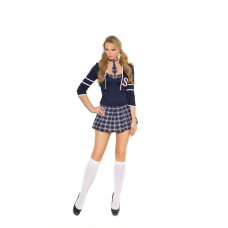 Class Distraction - 4 pc. costume includes cami top, jacket, pleated mini skirt and tie.  - 99004