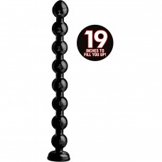 Hosed 19 Inch Beaded Thick Anal Snake